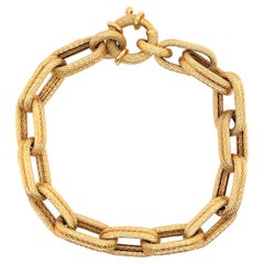 14 Karat Yellow Gold Mesh Link Bracelet 11.2 Grams