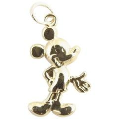 14 Karat Yellow Gold Mickey Mouse Charm