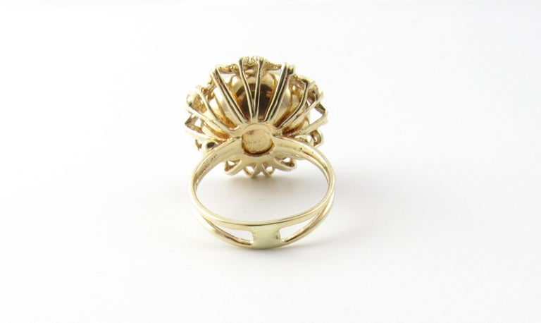 14 Karat Yellow Gold Mobe Pearl Ring For Sale 1