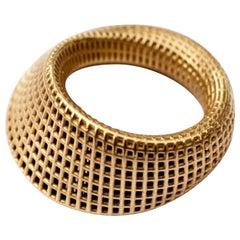 14 Karat Yellow Gold, Mobius #2 Ring