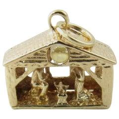 14 Karat Yellow Gold Nativity Charm
