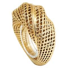 14 Karat Yellow Gold, Netline 360 Ring