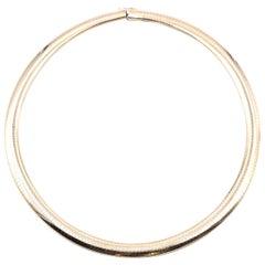 14 Karat Yellow Gold Omega Necklace