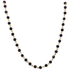 14 Karat Yellow Gold Onyx Necklace