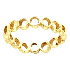 Hi June Parker 14 Karat Yellow Gold Organic Shaped Ring Band