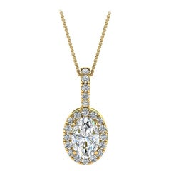 14 Karat Yellow Gold Oval Halo Diamond '1/2 Carat'
