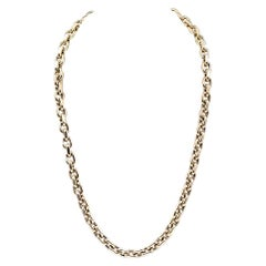 14 Karat Yellow Gold Oval Link Necklace