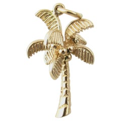 14 Karat Yellow Gold Palm Tree Charm