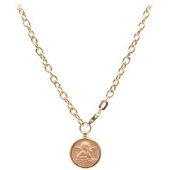 14 Karat Yellow Gold Pendant Chain Necklace