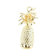 14 Karat Yellow Gold Pineapple Charm