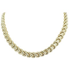 14 Karat Yellow Gold Polished Collar Necklace
