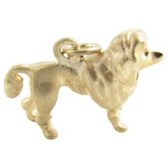 14 Karat Yellow Gold Poodle Dog Charm