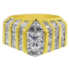 14 Karat Yellow Gold Princess Cut Ring