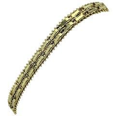 14 Karat Yellow Gold QVC Imperial Gold Mirror Bar Bracelet