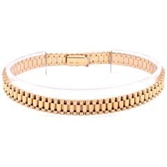 """14 Karat Yellow Gold """"Rolex"""" Style Fancy Link Bracelet"""
