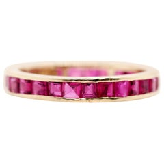 14 Karat Yellow Gold Ruby Eternity Band