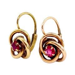 14 Karat Yellow Gold Russia Earrings