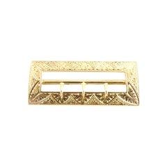 14 Karat Yellow Gold Sash / Belt Buckle
