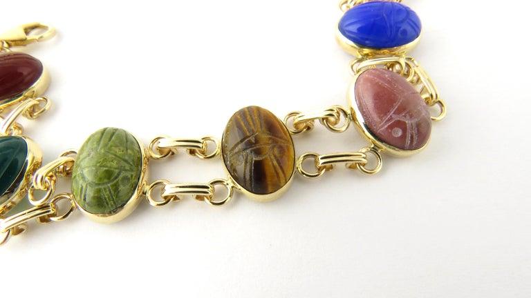 14 Karat Yellow Gold Scarab Bracelet For Sale 1