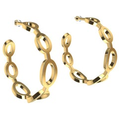 14 Karat Yellow Gold Seven Oval Hoops