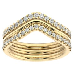 14 Karat Yellow Gold Shila Petite Stackable Diamond Ring '2/5 Carat'