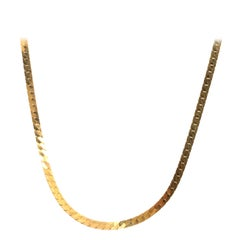 14 Karat Yellow Gold Snake Necklace