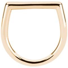 14 Karat Yellow Gold Solid Stacking Square Ring