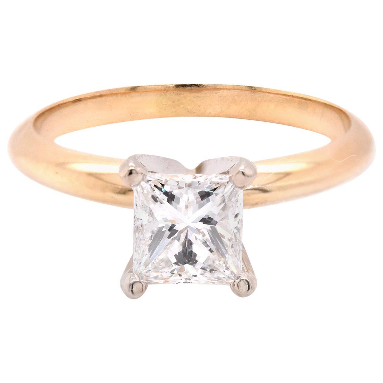 14 Karat Yellow Gold Solitaire Diamond Engagement Ring