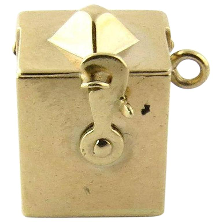 14 Spring For Sale: 14 Karat Yellow Gold Spring Loaded Jack-in-the-Box Charm