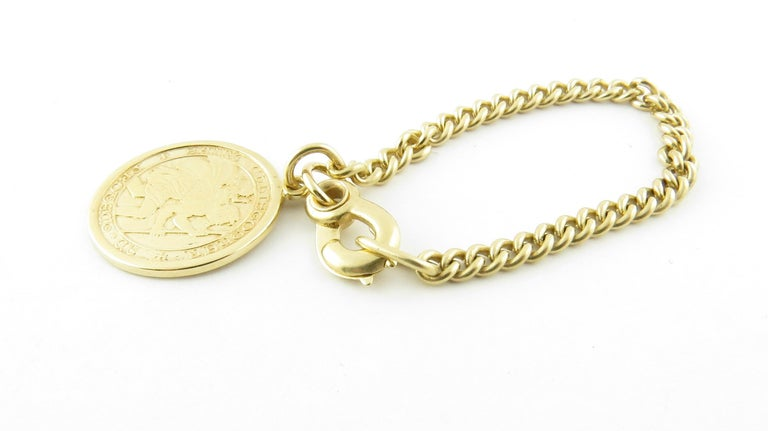 14 Karat Yellow Gold St. Christopher Watch Fob In Good Condition In New Milford, CT