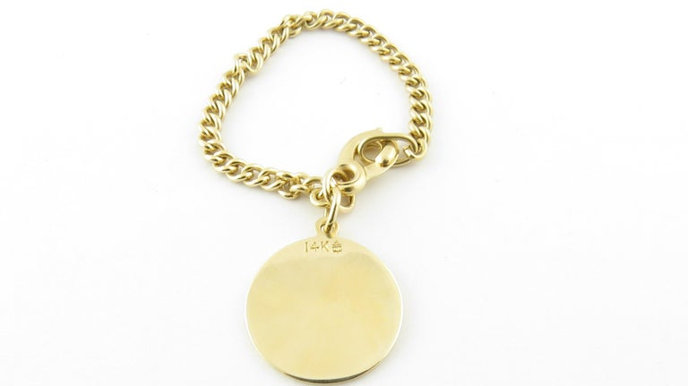 Men's 14 Karat Yellow Gold St. Christopher Watch Fob