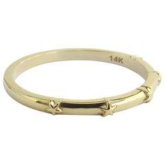 14 Karat Yellow Gold Star Ring