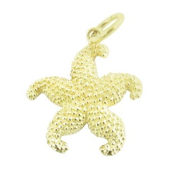 14 Karat Yellow Gold Starfish Charm