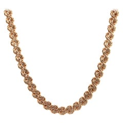 14 Karat Yellow Gold Swirl Link Necklace