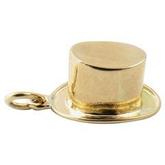 14 Karat Yellow Gold Top Hat Charm