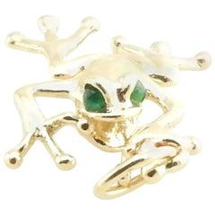 14 Karat Yellow Gold Tree Frog Charm