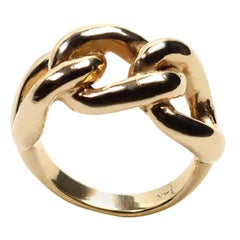 14 Karat Yellow Gold Triple Knot Statement Ring