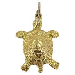 14 Karat Yellow Gold Turtle Charm Pendant