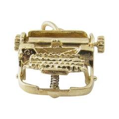 14 Karat Yellow Gold Typewriter Charm
