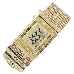 14 Karat Yellow Gold Victorian Style Bracelet