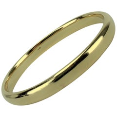 14 Karat Yellow Gold Vintage 1965 Polished Bangle Bracelet