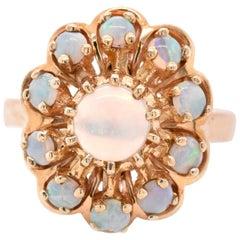 14 Karat Yellow Gold Vintage Opal Ring