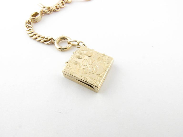 14 Karat Yellow Gold Watch Fob Locket In Excellent Condition For Sale In New Milford, CT