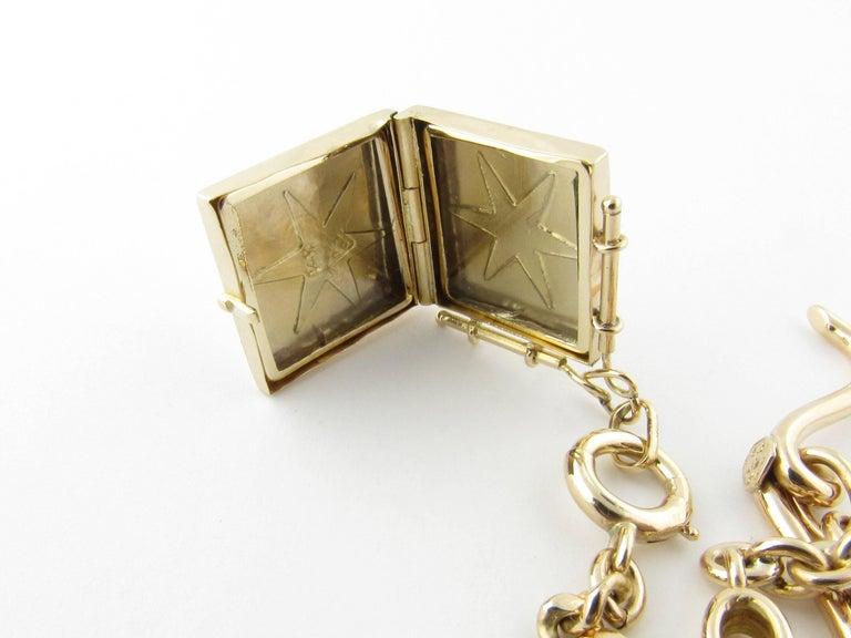 Men's 14 Karat Yellow Gold Watch Fob Locket For Sale
