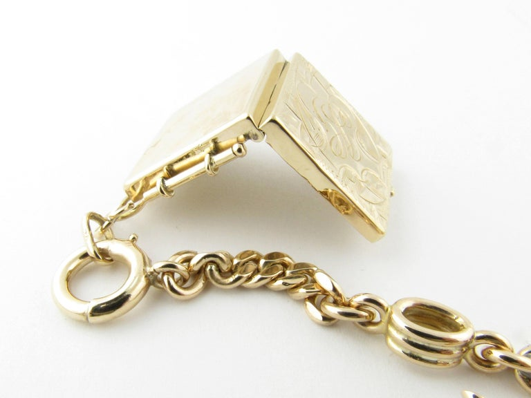 14 Karat Yellow Gold Watch Fob Locket For Sale 1