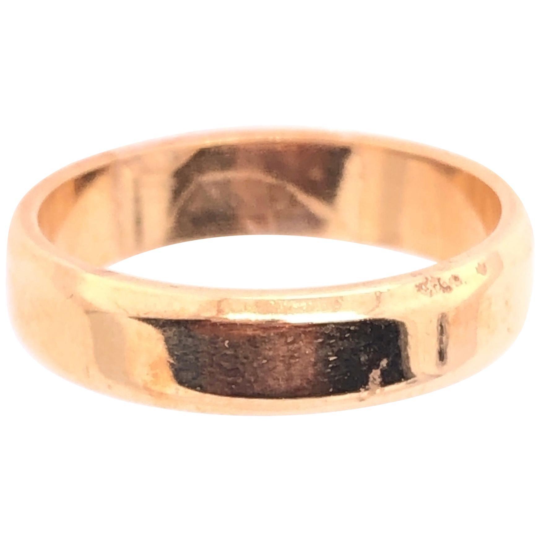 18 Karat Yellow Gold Wedding Ring / Bridal Band