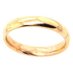 14 Karat Yellow Gold Wedding Ring / Wedding Band