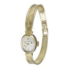 14 Karat Yellow Gold Wittnauer Ladies Watch