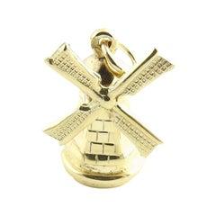 14 Karat Yellow Gold Windmill Charm