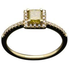 14 Karat Yellow Gold with Yellow Diamond Ring